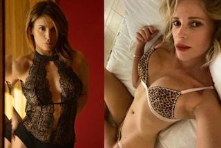 Alessia Marcuzzi animalier, Elisabetta Canalis in nero: tutte in intimo sexy per San Valentino