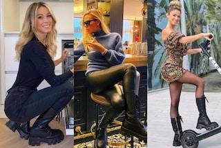 Anfibi con suola carrarmato: sono queste le scarpe più amate dalle star, dalla Leotta alla Blasi