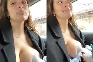 Ashley Graham è una mamma rivoluzionaria, usa il tiralatte sul taxi e ne va fiera