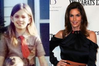 Cindy Crawford da piccola con camicia e cravatta: anche da bambina era trendy
