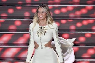 """Diletta Leotta nella finale di Sanremo: """"Mi sono vestita da palma d'oro"""", il look è luccicante"""