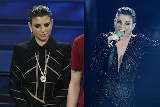 Emma Marrone a Sanremo, dall'abito castigato alle paillettes ma i capelli effetto wet non convincono