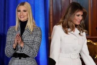 """Ivanka Vs. Melania, è sfida """"di lusso"""" tra le donne Trump: i loro cappotti valgono quasi 6mila euro"""