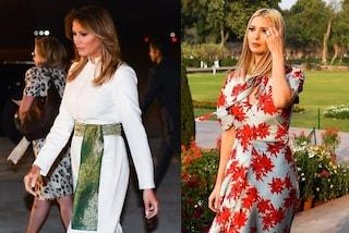 Melania in abiti tradizionali, Ivanka ricicla il look a fiori: in India è gara di stile tra le Trump