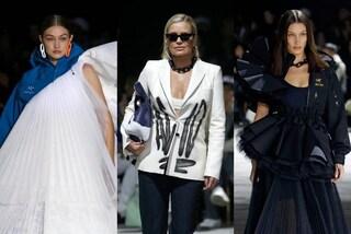 Off-White sfila a Parigi: Bella e Gigi Hadid per la prima volta in passerella con mamma Yolanda