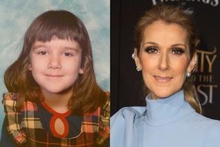 Céline Dion da piccola, la cantante portava la frangetta e i capelli scuri
