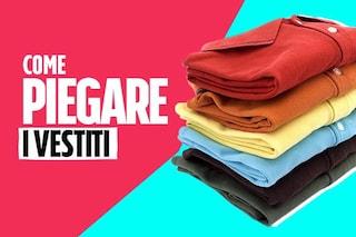 Come piegare i vestiti per un armadio in ordine: i consigli per T-shirt, felpe, jeans e calzini