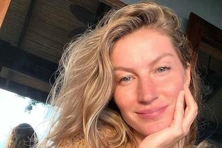 Gisele Bündchen senza trucco, alla soglia dei 40 anni è più bella che mai