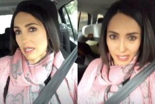 Caterina Balivo mamma glamour: indossa la sciarpa griffata per andare a prendere i figli al parco