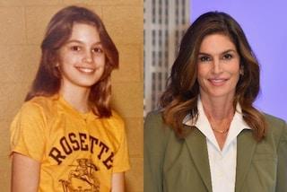 Cindy Crawford da ragazzina con viso paffuto e jeans over: la top è sempre stata bellissima
