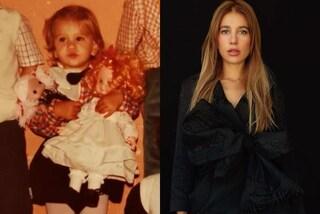Clizia Incorvaia da piccola: anche a poco più di 4 anni era trendy con minigonna e camicia a quadri