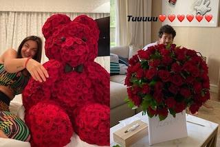 Elettra Lamborghini, la quarantena diventa romantica: Afrojack le regala centinaia di rose rosse