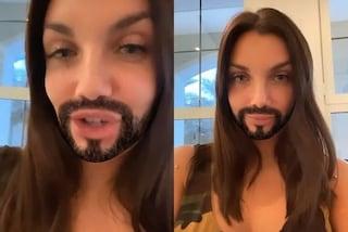 """Elettra Lamborghini irriconoscibile in quarantena: """"Con la barba sembro Gesù"""""""