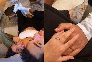 Elettra Lamborghini, quarantena con Afrojack: calzini pizza e anello in mostra per ricordare le nozze