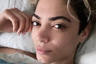 Elodie senza trucco e con i capelli al naturale: in versione acqua e sapone è sempre bellissima