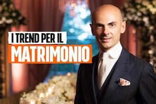 Gli abiti da sposa di Enzo Miccio per il 2021: i vestiti si trasformano per avere più look in uno