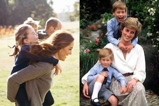 Mamme reali a confronto, da Kate Middleton a Diana: la dolce dedica dei Cambridge