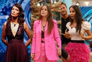 GF Vip, look della puntata 18: Teresanna fluo, Paola con le piume, Fernanda dice addio in paillettes