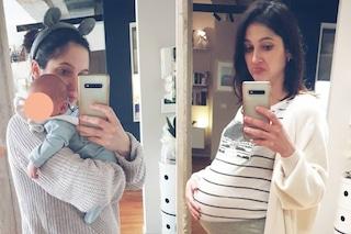 Lodovica Comello prima e dopo il parto, nella prima foto da mamma mostra com'è cambiato il suo corpo