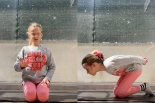 Mia, la figlia di Alessia Marcuzzi si dà al fitness: tutorial di ginnastica per i bambini a casa