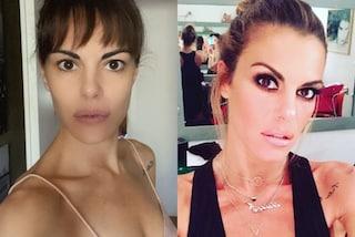 Bianca Guaccero senza trucco in pigiama: la trasformazione con frangia e look al naturale