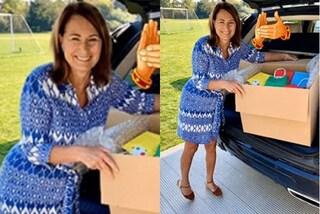 """Carole Middleton """"imita"""" la figlia Kate: ha la sua stessa passione per espadrillas e look riciclati"""