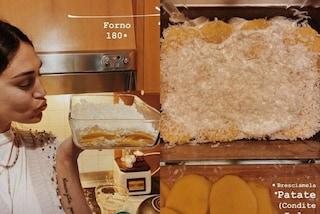 Cecilia Rodriguez rivela la sua ricetta della parmigiana patate: in quarantena diventa cuoca