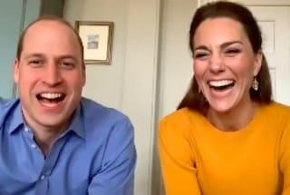 Kate e William debuttano in videochat: è la loro prima apparizione pubblica durante la quarantena