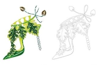 """Manolo Blahnik, i bozzetti da colorare in quarantena: le preziose scarpe diventano """"anti-stress"""""""