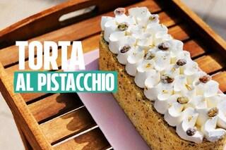 Torta al pistacchio con crema chantilly: la ricetta di Martina Russo di Bake Off Italia