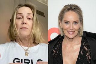 Sharon Stone senza trucco, in quarantena la diva non ha paura di mostrarsi al naturale