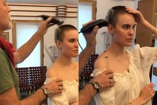 Tallulah Willis si fa rasare i capelli dal papà: somiglia sempre più a mamma Demi Moore