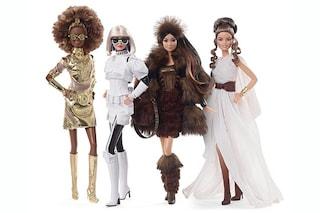 Barbie celebra Star Wars: da Chewbacca agli Stormtrooper, i protagonisti diventano icone fashion