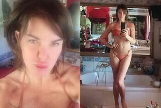 """Alba Parietti in bikini e senza trucco è in formissima: """"Non usare più il make-up, sembri finta"""""""