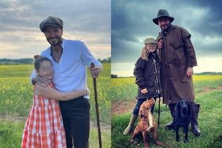 David e Harper Beckham coordinati in campagna: papà e figlia sono i più trendy della quarantena