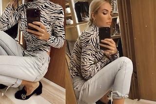 Ilary Blasi e il nuovo look post quarantena: jeans e scarpe firmate da lady