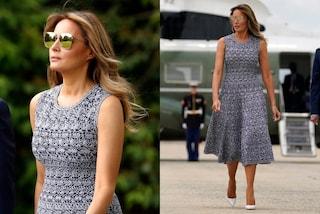 Melania Trump torna in pubblico griffatissima: il primo look post quarantena supera i 3mila euro