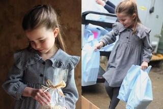 La principessa Charlotte icona di stile come mamma Kate: l'abito low-cost del compleanno è sold-out