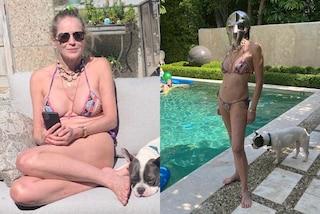 Sharon Stone in bikini a 62 anni, rilancia il trend della collana con le conchiglie per l'estate