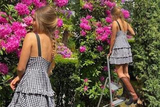 """Stella Bossari """"contadina"""" con gli stivali texani: lancia il trend dei camperos in primavera"""
