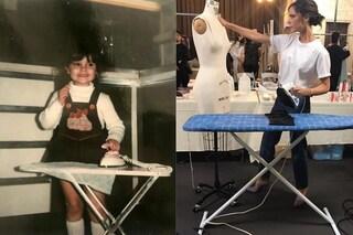 Victoria Beckham da piccola con frangia e salopette, ha sempre sognato di diventare stilista