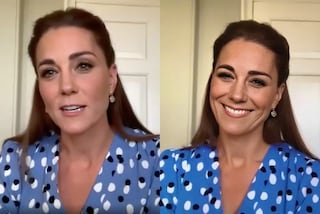 Royal Family riunita per la prima videochat ufficiale: Kate Middleton incanta con il look riciclato