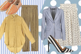 Righe e pois, l'abbinamento perfetto per un look mix and match estivo
