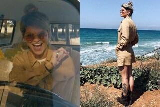 Alessandra Amoroso con stivali bassi e tutina in stile militare: così lancia la hit dell'estate