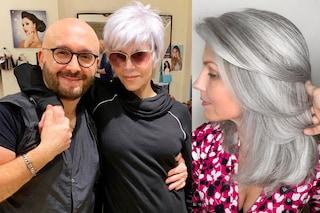 Capelli d'argento, il parrucchiere che aiuta le donne ad accettarsi