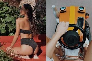 Cecilia Rodriguez, la sua estate è trendy tra costumi total black e ciabatte da quasi 500 euro