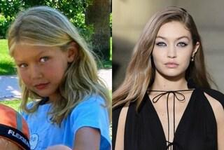 Gigi Hadid da piccola con i capelli biondissimi e la t-shirt stampata: la top è sempre stata trendy