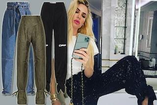 Ilary Blasi i pantaloni li allaccia alle caviglie: il capo alla moda per l'estate 2020