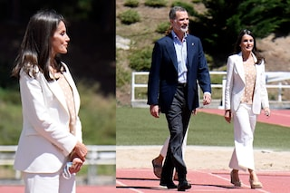 Letizia di Spagna, la regina sceglie un look primaverile e low cost