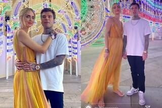 Chiara Ferragni, una principessa alla sfilata Dior ma abbina l'abito da sera alle infradito di gomma